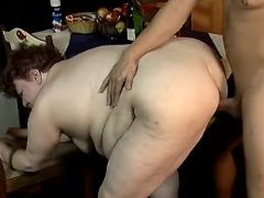 Old fatty hard fucks in doggy style