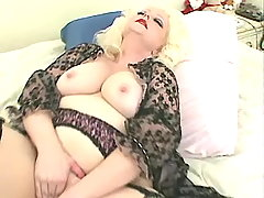 Fat slut in stockings serves studs
