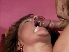Hot mature gets cumshot in mouth