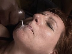 Mature gets facial from black cock