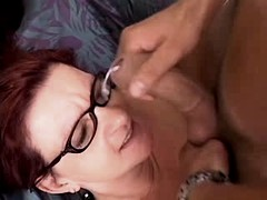 Mature has hard fuck n gets facial
