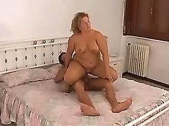 Depraved fat honey fucks with dude