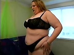 Busty cute plumper in lingerie spoils horny guy
