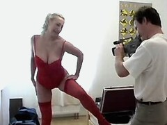 Blonde mature fucks in doggy style